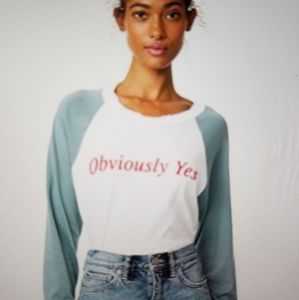NEW! WiLDFOX obviously yes sweatshirt tee